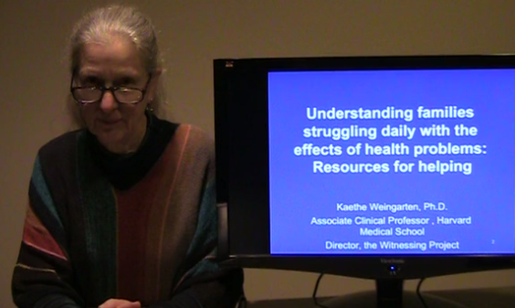 Understanding families struggling daily with the effects of health problems by Kaethe Weingarten