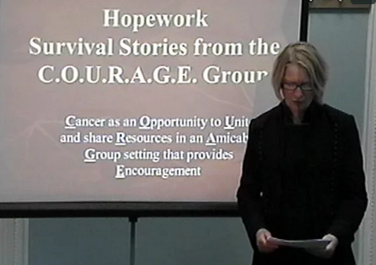 Hopework: Survival stories from the C.O.U.R.A.G.E. program ~ Families with children who have cancer  by Linda Moxley-Haegert